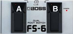 Boss FS-6 Dual Footswitch with latch or momentary type switching