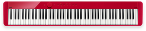Casio Privia PX-S1000 Digital Piano with 88 Weighted Keys - Red