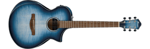 Ibanez AEWC400-IBB Right-Handed 6-String Acoustic/Electric Guitar Indigo Blue Burst