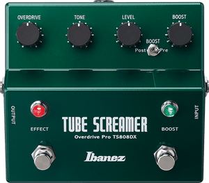 Ibanez TS808DX Tube Screamer Distortion/Overdrive Pro Deluxe Guitar Effect Pedal