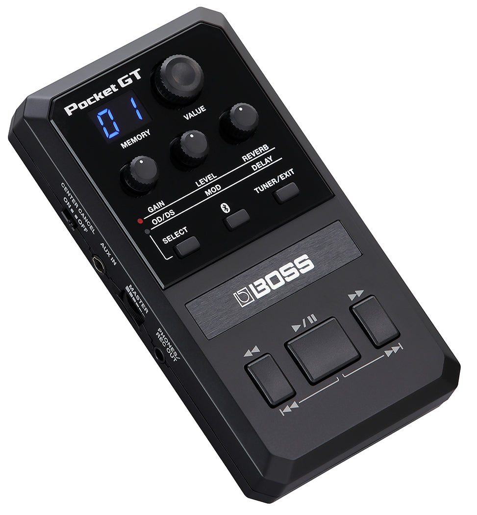 Boss Pocket GT Digital Pocket Effects Processor with Integrated YouTube Learning