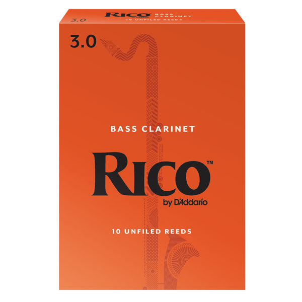Rico Bass Clarinet Reeds – 10 Pack