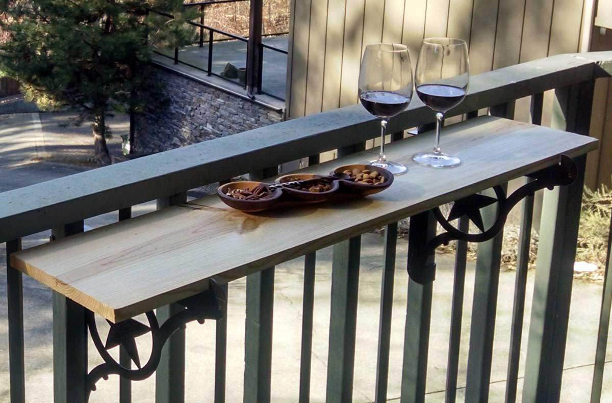 How to Turn Your Deck Railing into an Outdoor Bar