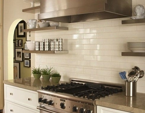 Decorating with Stainless Steel Floating Shelves