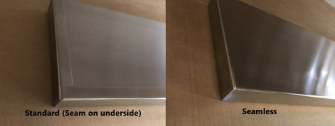 Seamless vs seamed stainless steel floating shelf