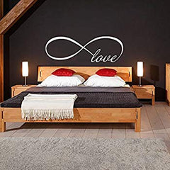 Infinity Love headboard over bed