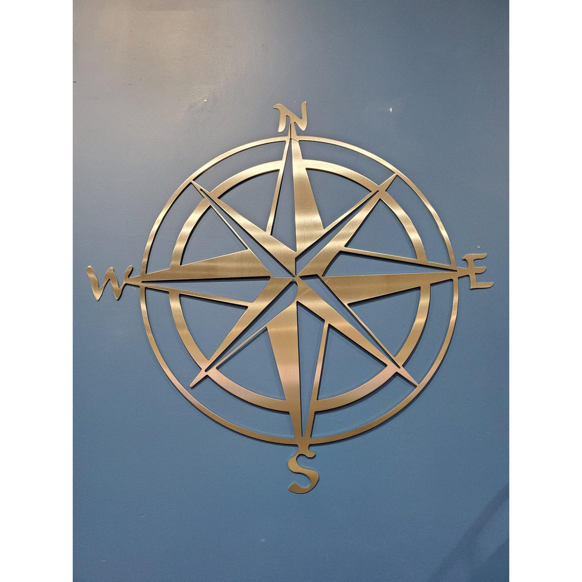 Nautical Stainless Steel Compass Rose Metal Wall Art - Home Decor-Home Decor-Cascade Manufacturing