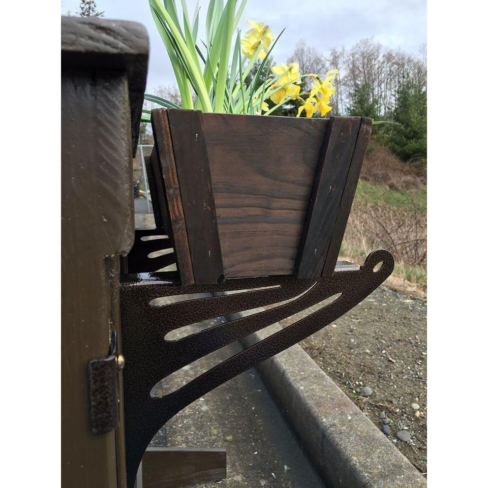 Kulshan DIY Deck Railing Planter Bracket
