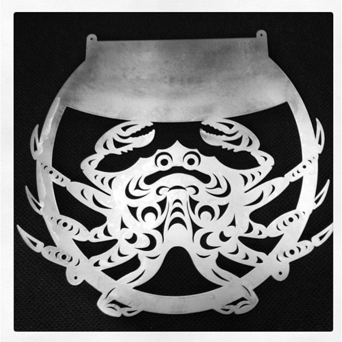 Crab Sea Life Metal Art Wall Decor