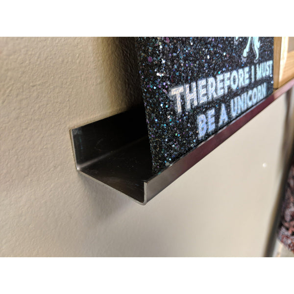Deep Picture Ledge: Stainless Steel Picture Ledge Photo Wall Shelf Extra Deep