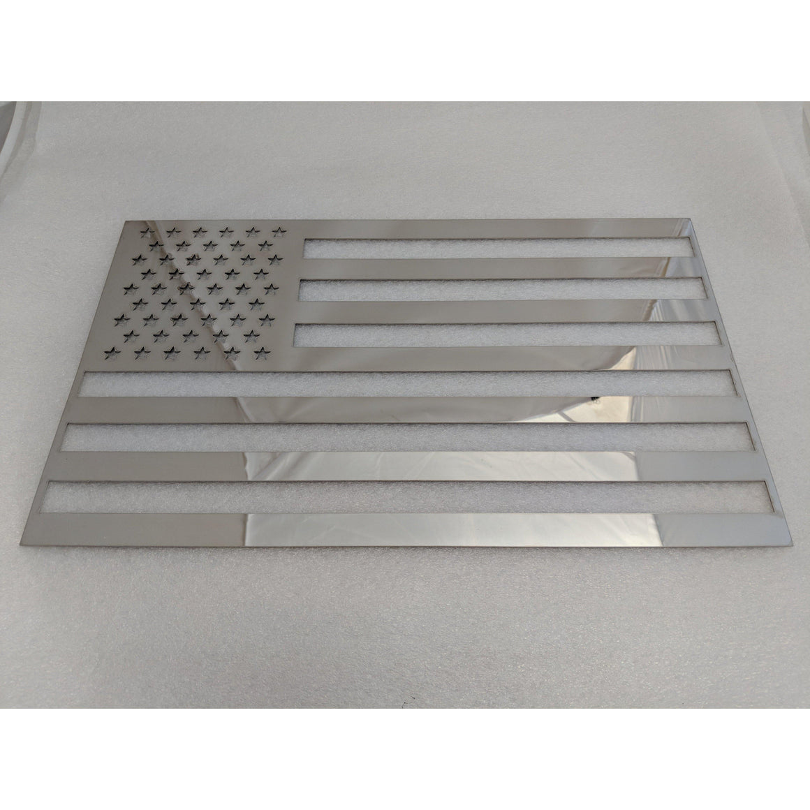 American Flag in mirror finish Stainless Steel