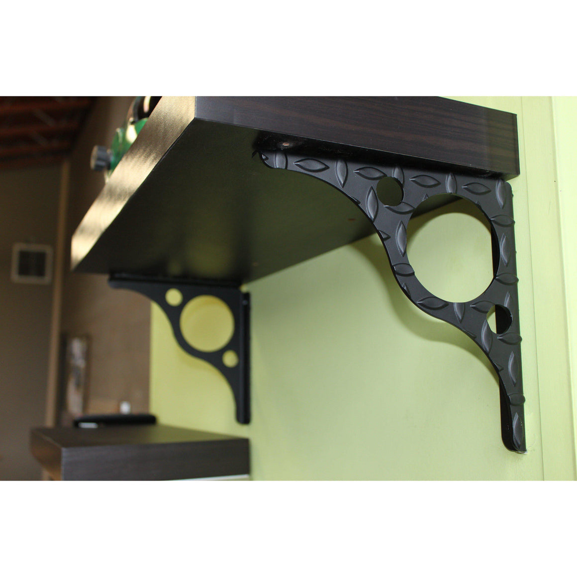 Diamond Plate Black Steel Shelf brackets