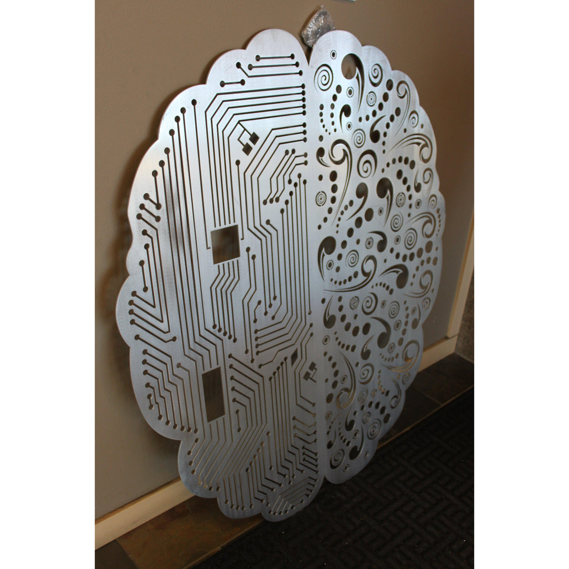 Two Sides of Brain Metal Wall Art