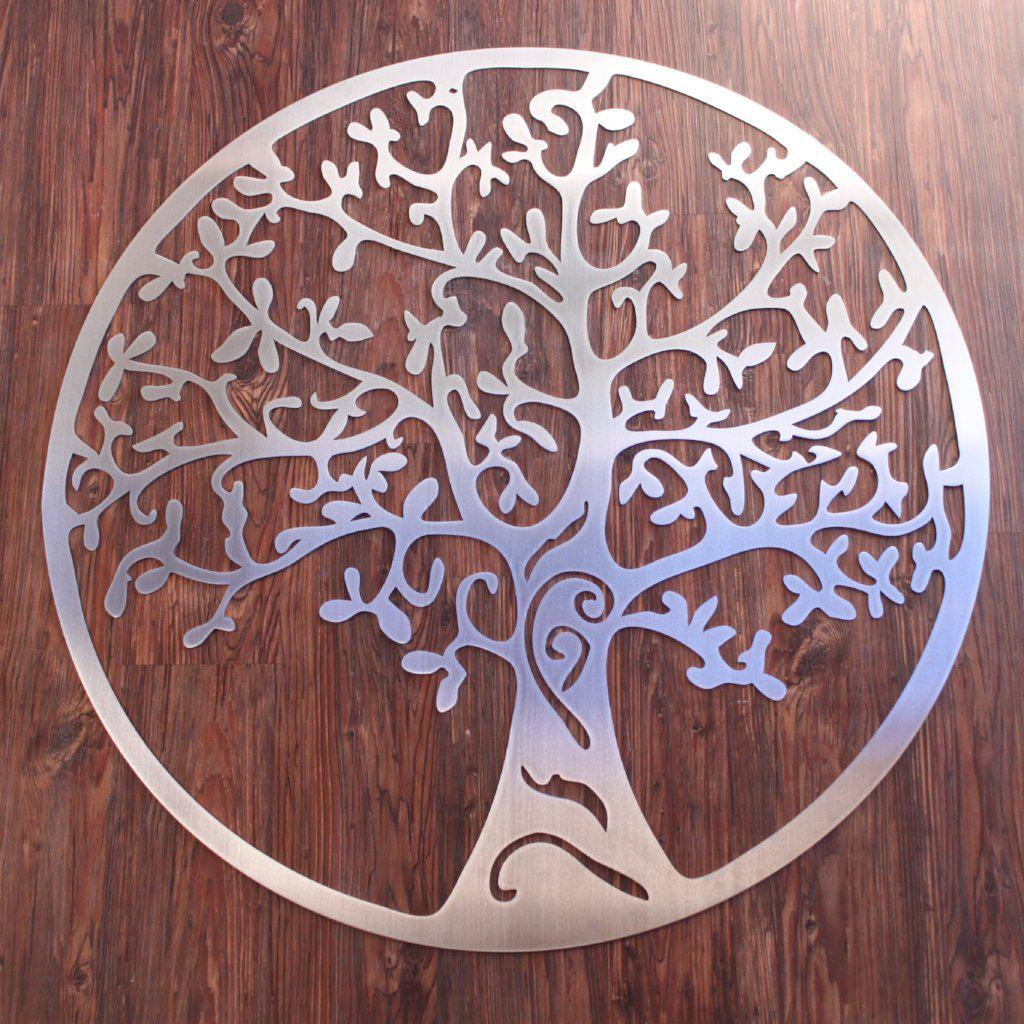 Good Tree Of Life Metal Art Stainless Steel ...