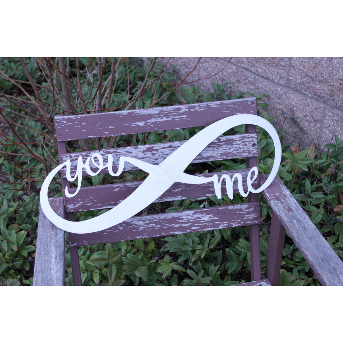You and Me Infinity Wall Metal Art Black