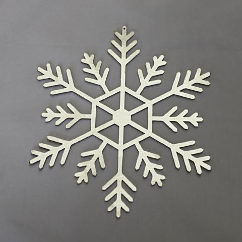Hanging stainless steel snow flake holiday decoration 6 inch