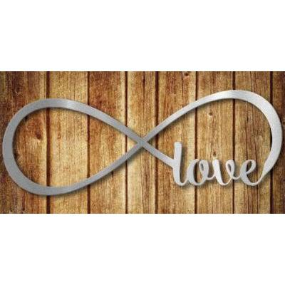Infinity Love Metal Wall Sign Stainless Steel ...