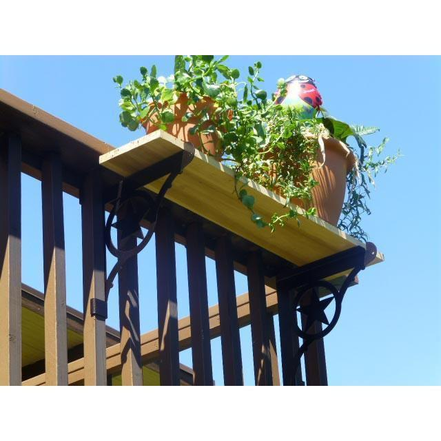 ... Kulshan DIY Deck Railing Table For Potted Plants Bracket ...