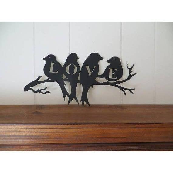 Love Birds on Branch Wall Art