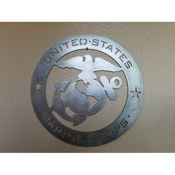 United States Marine Corps Emblem - Military Sign - Stainless Steel Metal Wall Art-Cascade Manufacturing