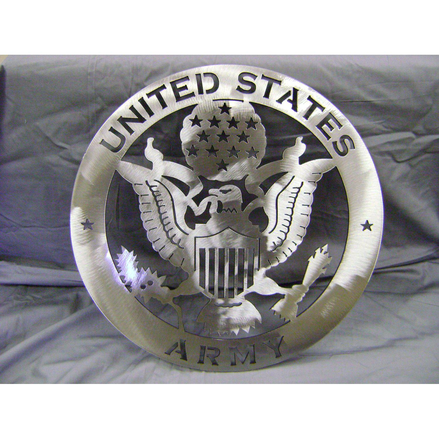 United States Army Emblem - Military Sign - Stainless Steel Metal Wall Art
