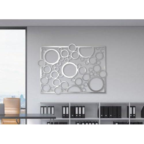 Abstract wall art stainless steel home decor