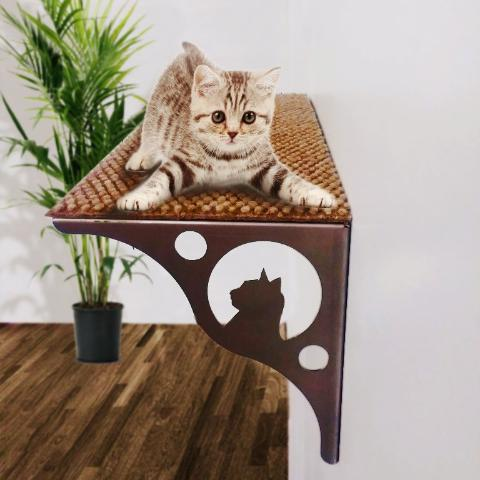 Cat tree climbing wall shelf