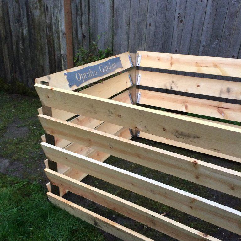 DIY Compost Bin Bracket Set