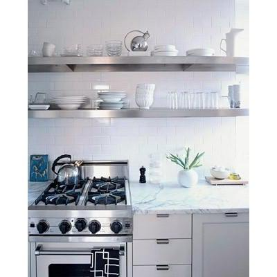 Beau Stainless Steel Floating Shelf System For Kitchen ...