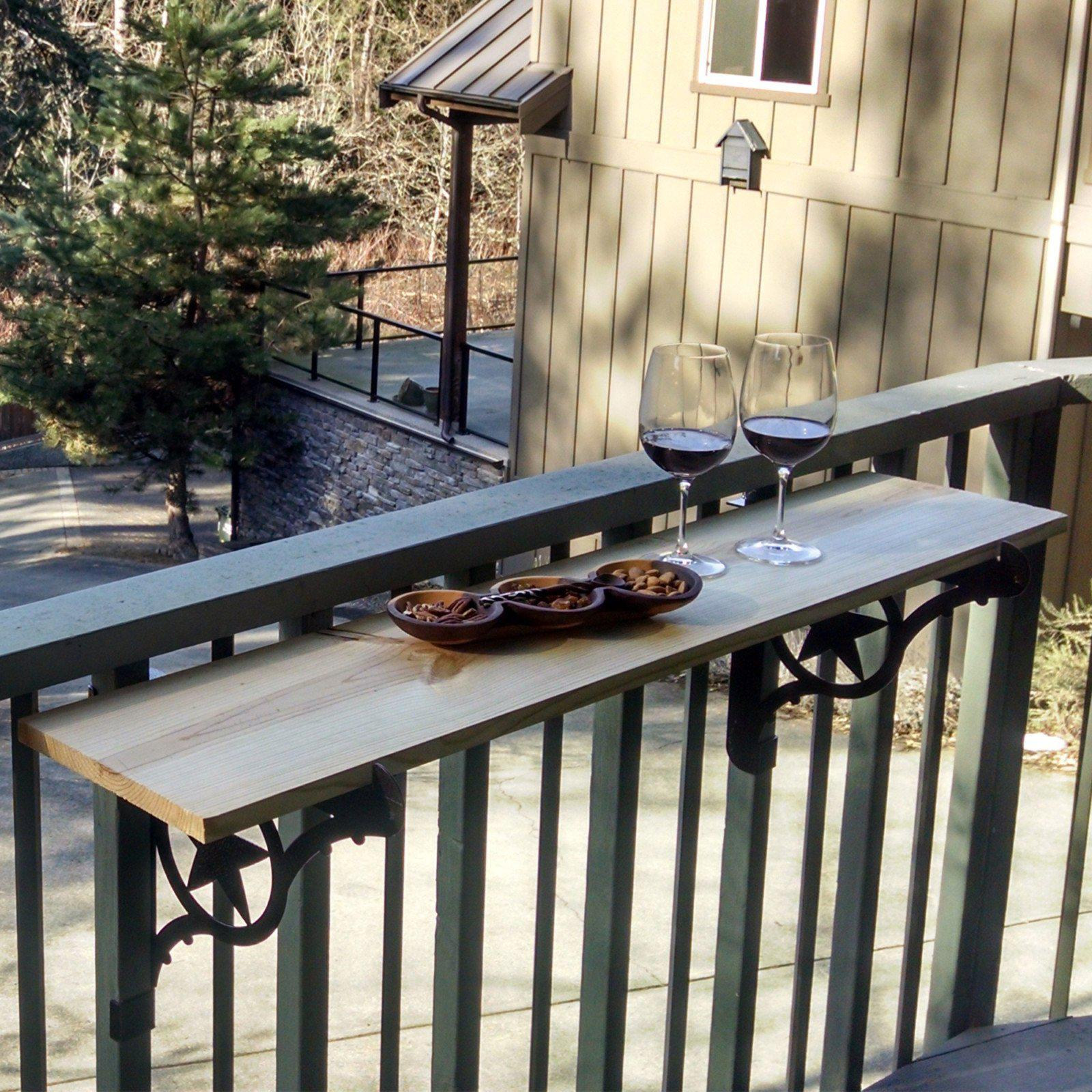 Kulshan balcony railing table brackets cascade manufacturing for Balcony deck zouk