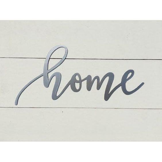Home Metal Wall Art Word Sign