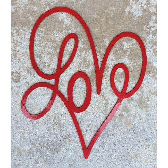 Love Heart Metal Sign-Cascade Manufacturing