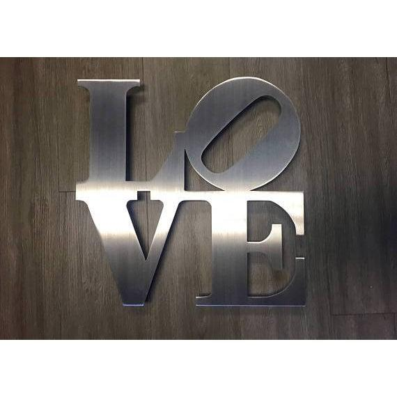 Stainless Steel Love Metal Sign Wall Art Home Decor
