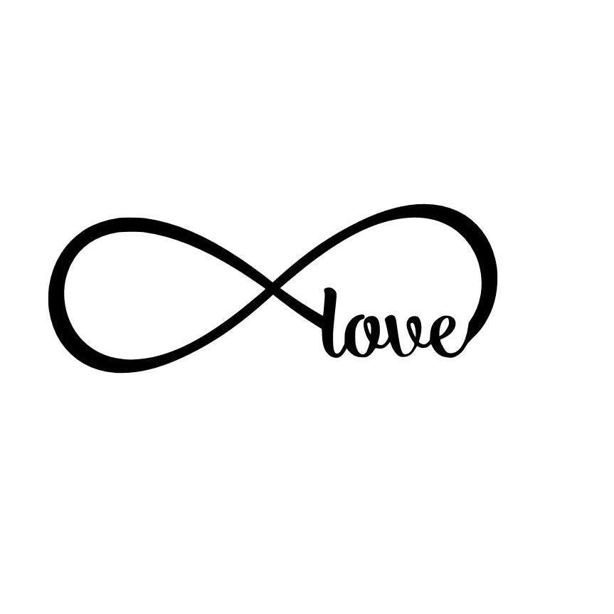 Infinity Love Metal Wall Sign Stainless Steel