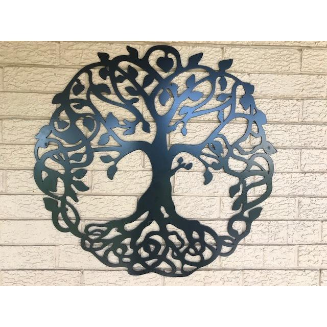 Elegant Tree Of Life Metal Art Black ...