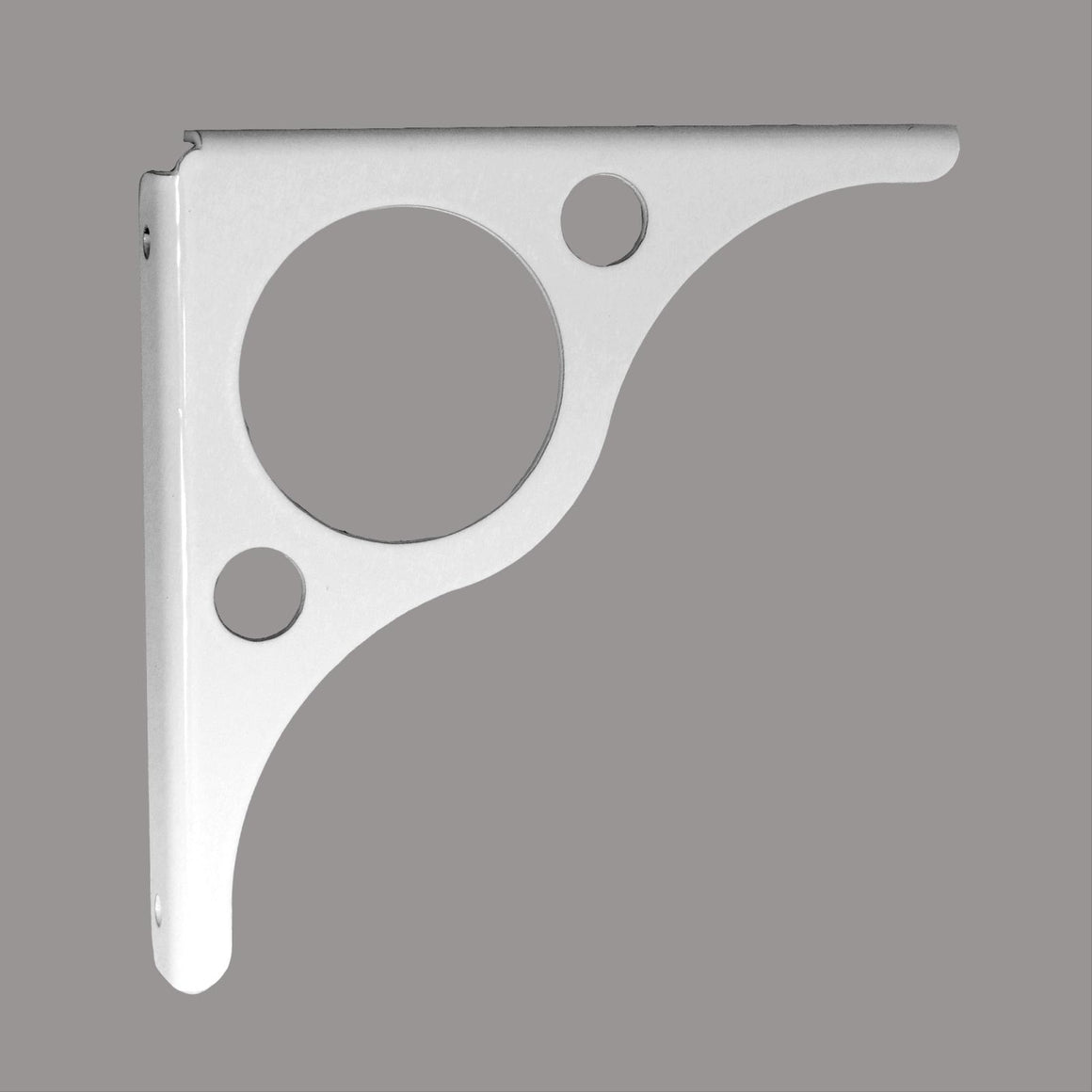 Apex White Steel Shelf Bracket