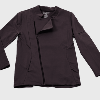 "Chef Antonia coat in ""carbon"" color"