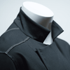 Close up photo of the collar and shoulders of the Alfredo Chef's coat