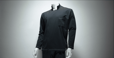 chefs coat on a mannequinn