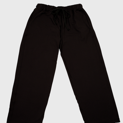 black colored chefs pants