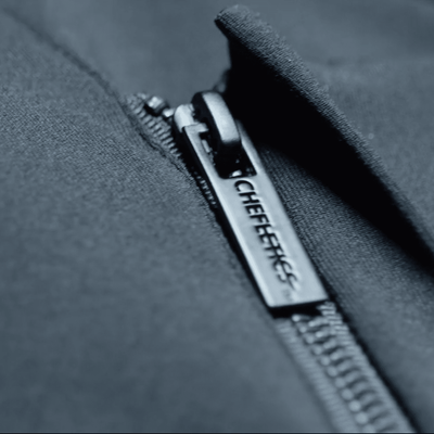 Zipper detail photo