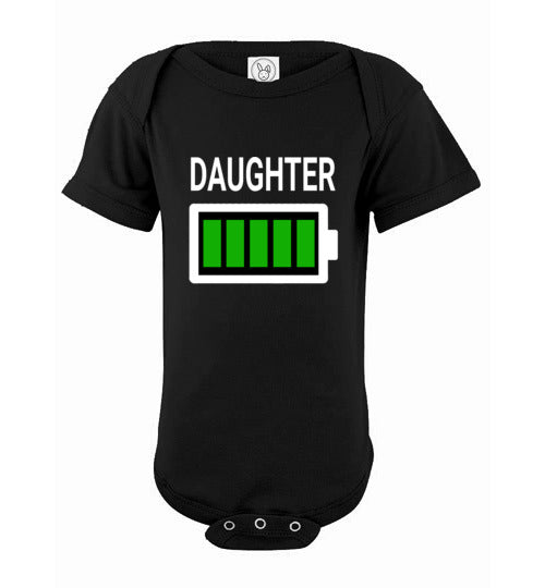 Battery Daughter Onesie