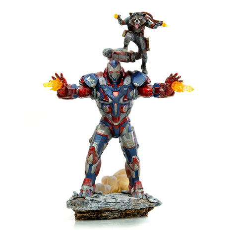 Iron Patriot & Rocket BDS Art Scale 1/10 - Avengers: Endgame  [PRE-ORDER - MSRP $169.99 10%] - Iron Studios