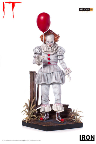 Pennywise Deluxe Art Scale 1/10 - IT [SRP $99.99 - Pre-order 10% SRP] - Iron Studios