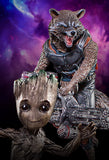 Rocket & Groot BDS 1/10 - Guardians of the Galaxy Vol. 2 - Iron Studios