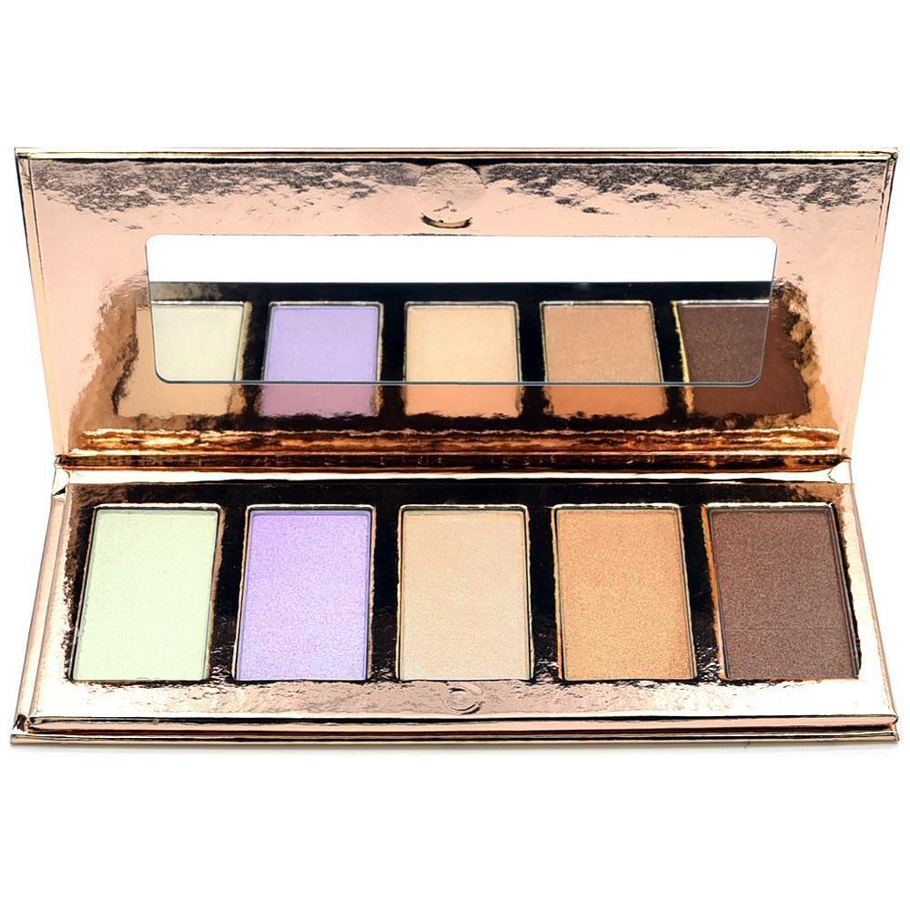 5 Colour Highlighter/Illuminator Palette Crownbrush Open