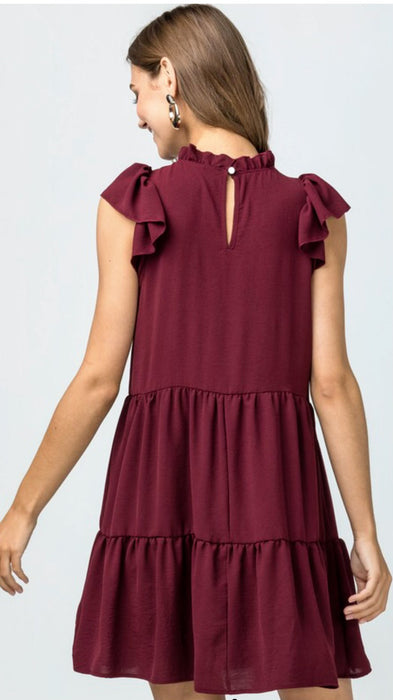 Flirt With Me Burgundy Dress