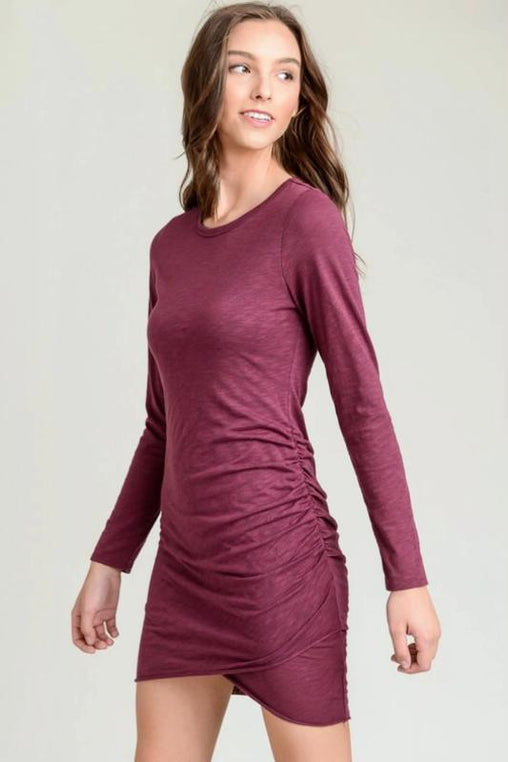 Merlot Ruched Dress