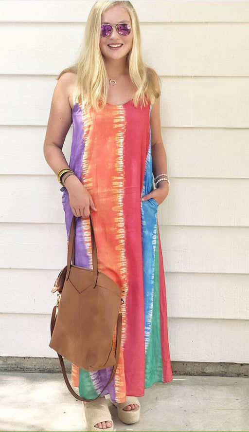 Colorful Tie-Dye Maxi