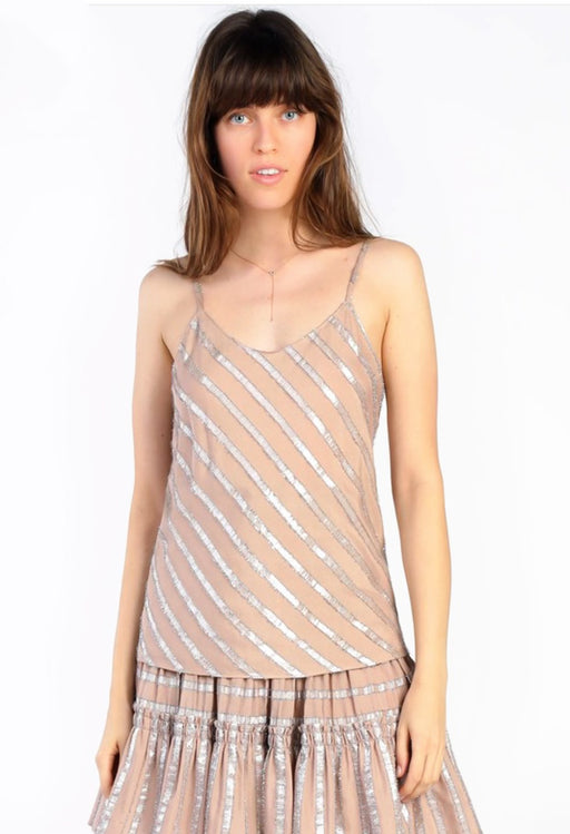Metallic Striped Cami Top
